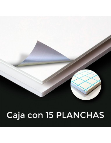 CARTÓN PLUMA ALUFOAM 5mm. ADHESIVO 150 X 305 (Plancha)