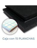 CARTÓN PLUMA BLACK NEGRO ALMA NEGRA 10mm. 70 X 100 CON ADHESIVO (Plancha)