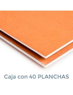 CARTÓN PLUMA DUOMO BLANCA/KRAFT 3mm. 70 X 100 (Plancha)