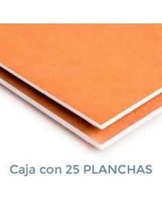 CARTÓN PLUMA DUOMO BLANCA/KRAFT 3mm. 100 X 200 (Plancha)
