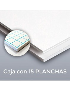 CARTÓN PLUMA SUPREM BLANCAS 10mm. 70 X 100 CON ADHESIVO (Plancha)
