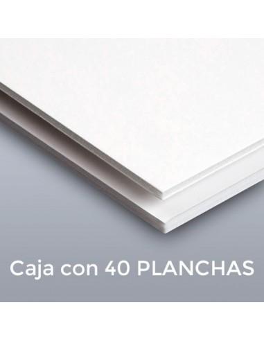 CARTÓN PLUMA SUPREM BLANCAS 3mm.  29.7 X 42 (Plancha)