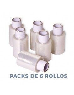 MINI FILM EXTENSIBLE 10cmX150mX23micras (PACK 6 ROLLOS)