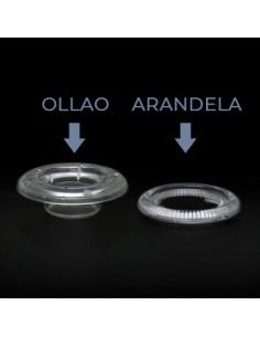OLLAO + ARANDELA PLASTICO TRANSPARENTE. 12mm (bolsa 1.000 uds)