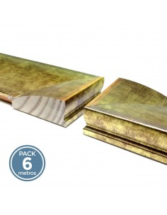 MOLDURA LISA 105mm ORO (Pack 6 metros)