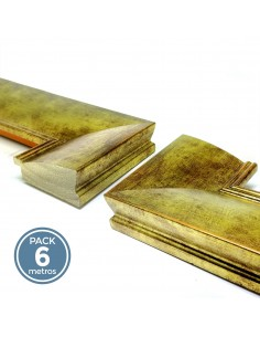 MOLDURA LISA 67mm ORO (Pack 6 metros)
