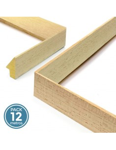 PIRAMIDE 22x60mm. DIENTE SENCILLO. AYOUS CRUDO (Pack 12 metros)