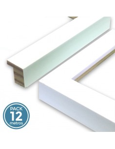 MOLDURA 17mm BLANCO MATE TEXTURA (Pack 12 metros)