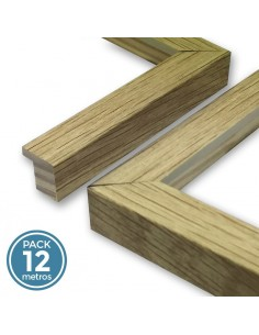MOLDURA 17mm ROBLE (Pack 12 metros)