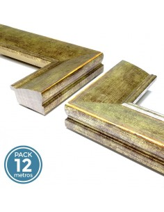 MOLDURA LISA 43mm ORO (Pack 12 metros)