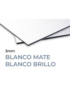 PANEL 3mm COMPOSITE ALUMINIO. BLANCO-BLANCO. MOLDIBER