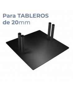 PIE BASE METÁLICO para paneles rígidos 20mm.