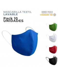 MASCARILLA TEXTIL lavable CORONA VIRUS ( PACK de 10 )
