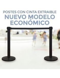 POSTES CON CINTA EXTRAIBLE - Mod. ECO. CATENARIAS ( Pack 2 Uds. )
