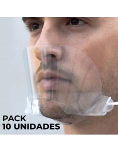 PANTALLA BUCO DENTAL PROTECCIÓN CORONA VIRUS (Pack 10 uds)