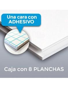 CARTÓN PLUMA FORTE BLANCO 10mm. ADHESIVO 152 X 305 (Plancha)