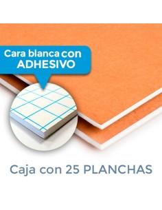 CARTÓN PLUMA DUOMO BLANCA/KRAFT 5mm. 100 X 200 CON ADHESIVO (Plancha)