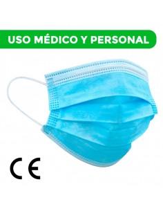 MASCARILLA MÉDICA TRICAPA Certificación CE ( PACK de 50 )