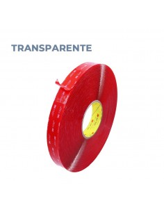 CINTA DOBLE CARA 3M. VHB 4910 F12, 12 mm x 33 mt. Transparente