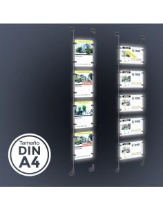"Sistema para INMOBILIARIAS ""EXPOWALL LED A4"""