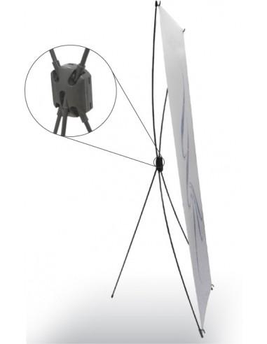 X-BANNER. Fiberglass. 600 x 1600mm. SIN GRAFICA